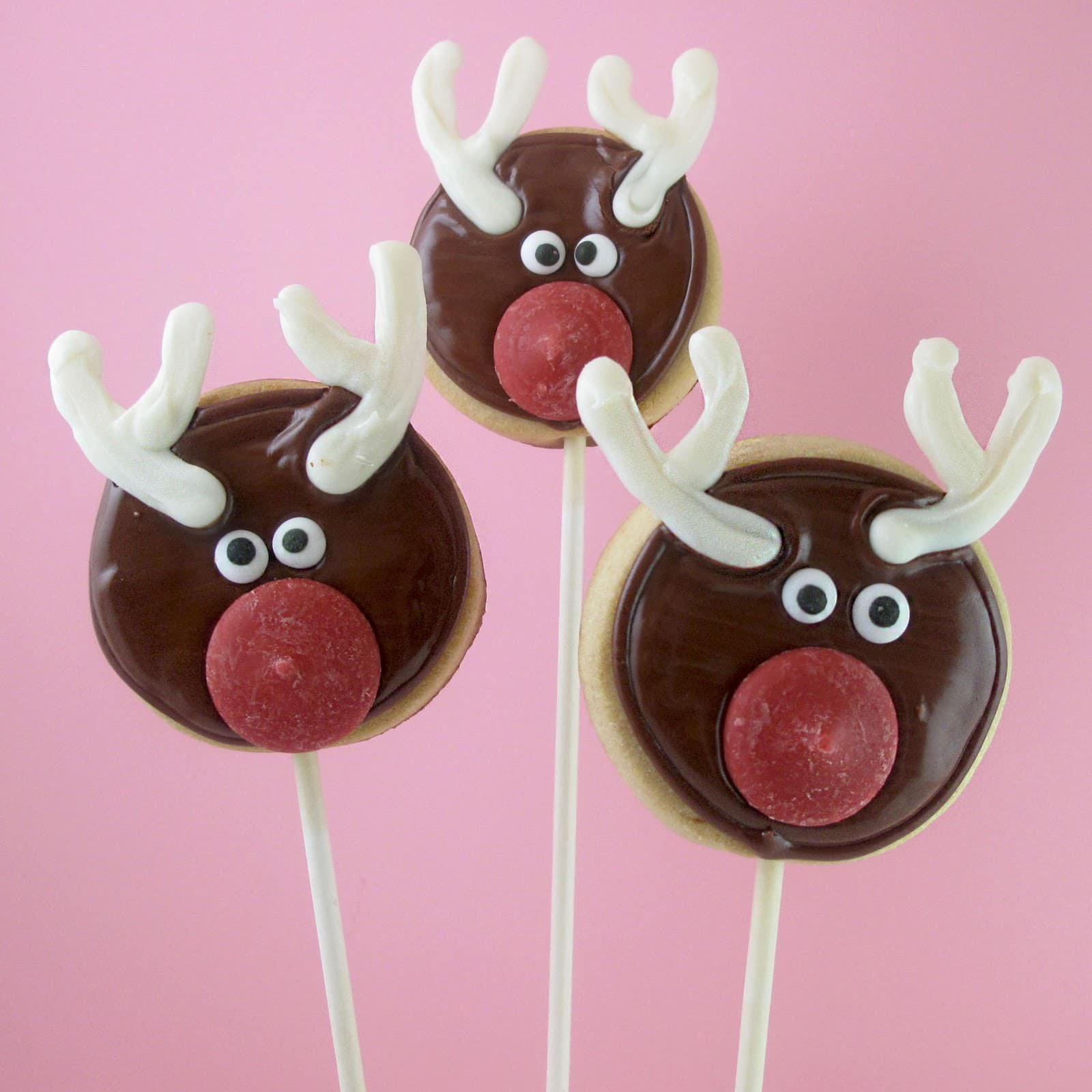 Rudolph cookie pops for christmas the decorated cookie