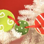 christmas salt dough garland and ornaments