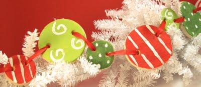 christmas salt dough garland and ornaments
