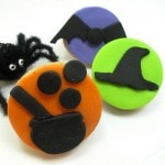 silhouette cookies for Halloween - the decorated cookie