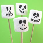 marshmallow skeletons for Halloween