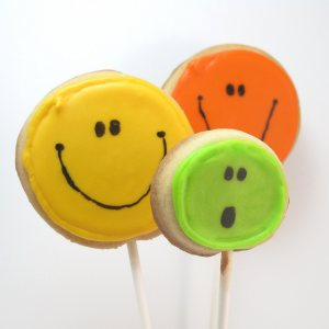 smile cookie pops - the decorated cookie