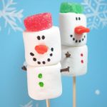 winter and christmas snowman marshmallows