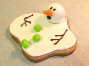 the ORIGINAL melting snowman cookie