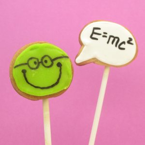 speech bubble happy face cookie pops