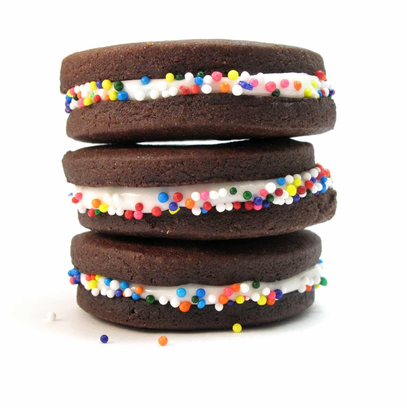 chocolate sprinkle sandwich cookies. maybe.