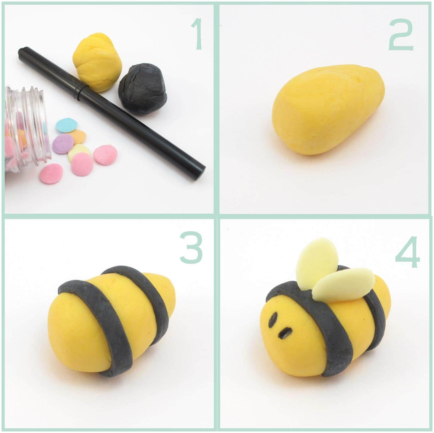 How To Make A Fondant Bumble Bee For Cake Decorating Cake