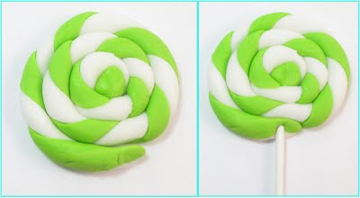 swirly fondant lollipops