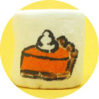 Thanksgiving marshmallows - pumpkin pie