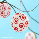 Valentine's Day cookie ornaments