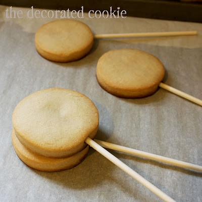 how to make cookie pops, or, cookies on a stick