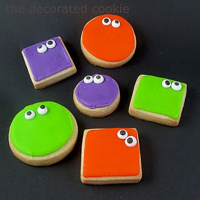 googly-eyed monster cookies for Halloween
