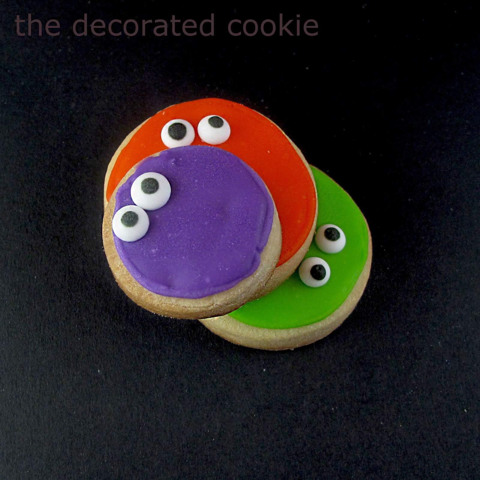 Googly Eyed Monster Halloween Cookies Fun Halloween