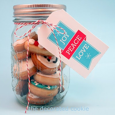 bite-size Christmas cookies in a jar