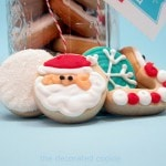 Christmas and holiday cookies in a jar