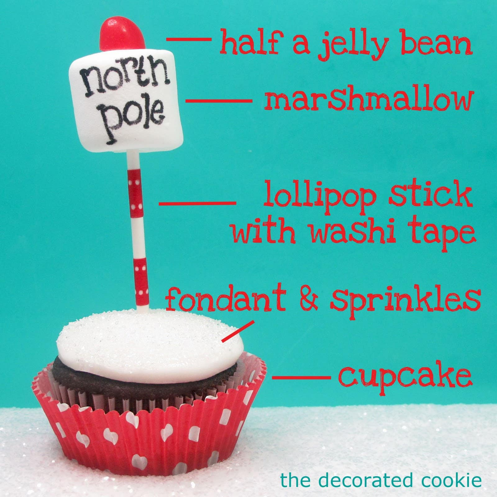 Super Simple North Pole Cupcakes For A Cute And Easy Christmas Treat