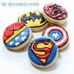 bite-size Superhero cookies #SuperheroParty #SuperheroCookies #CookieDecorating