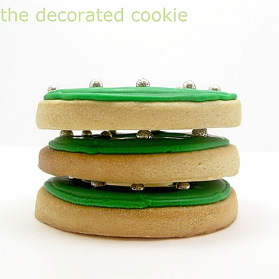simple Christmas wreath cookies