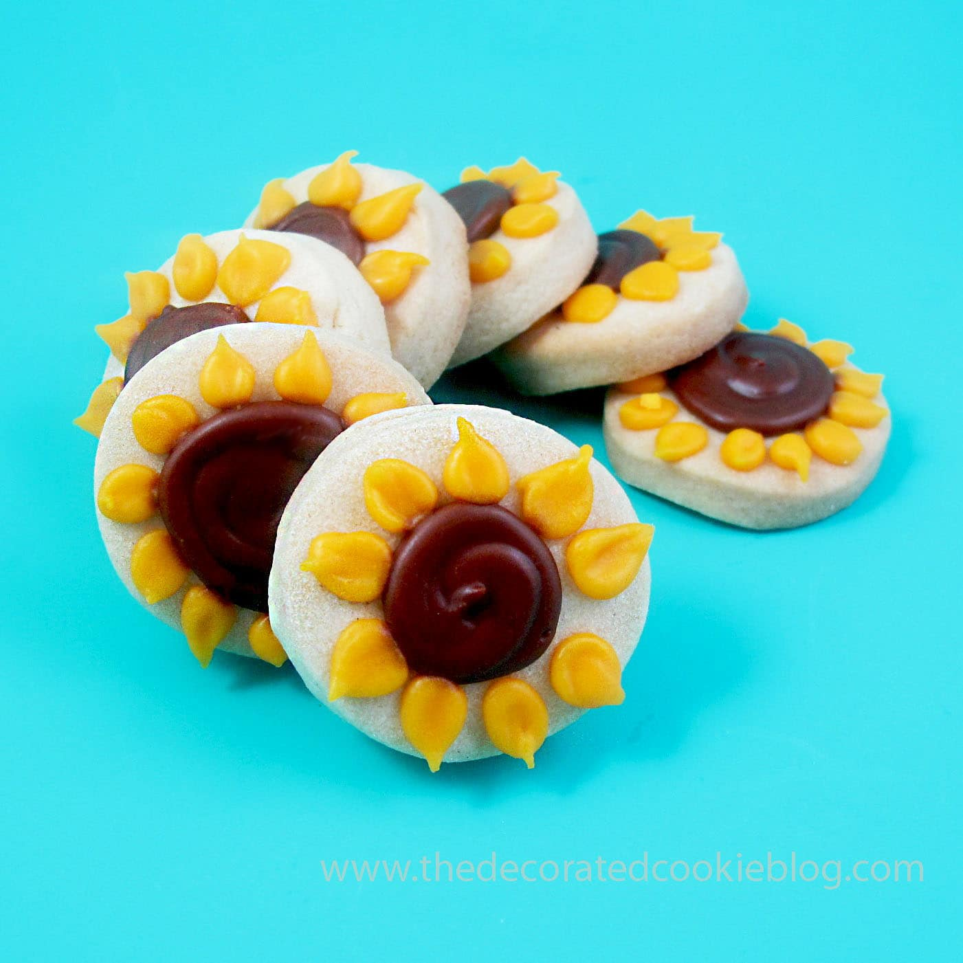 Sunflower Cookie Pops The Decorated Cookie