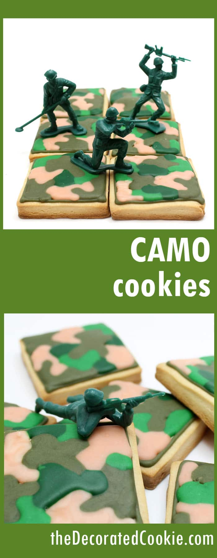 army camouflage cookies