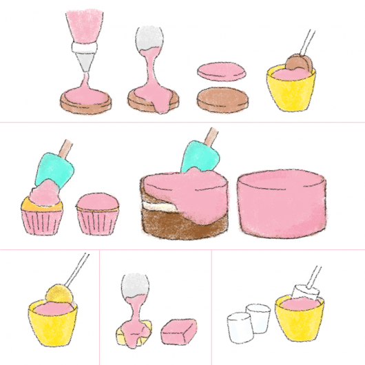 food decorating GUIDE to mix and match sweets, toppings and decorations