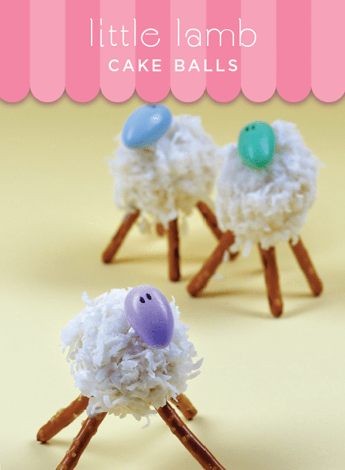 how to make adorable little lamb cake pops for Easter -- fun food for Easter from my cookbook, Sugarlicious