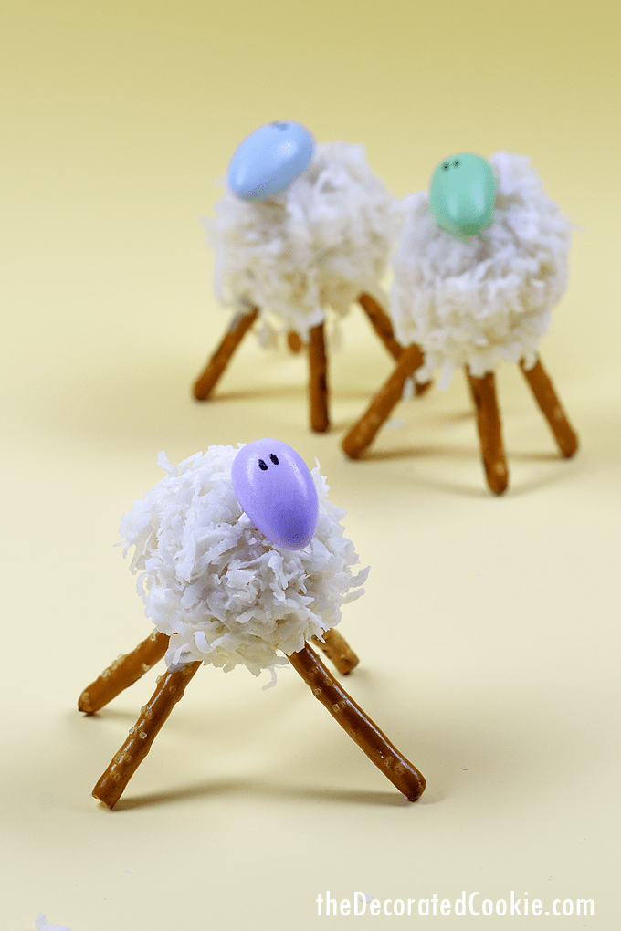 how to make adorable little lamb cake pops for an Easter treat or dessert -- fun food for Easter from my cookbook, Sugarlicious