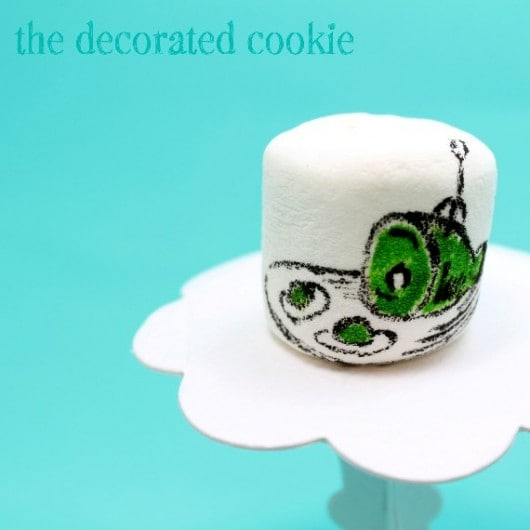 Dr. Seuss marshmallows - Green Eggs and Ham marshmallow art
