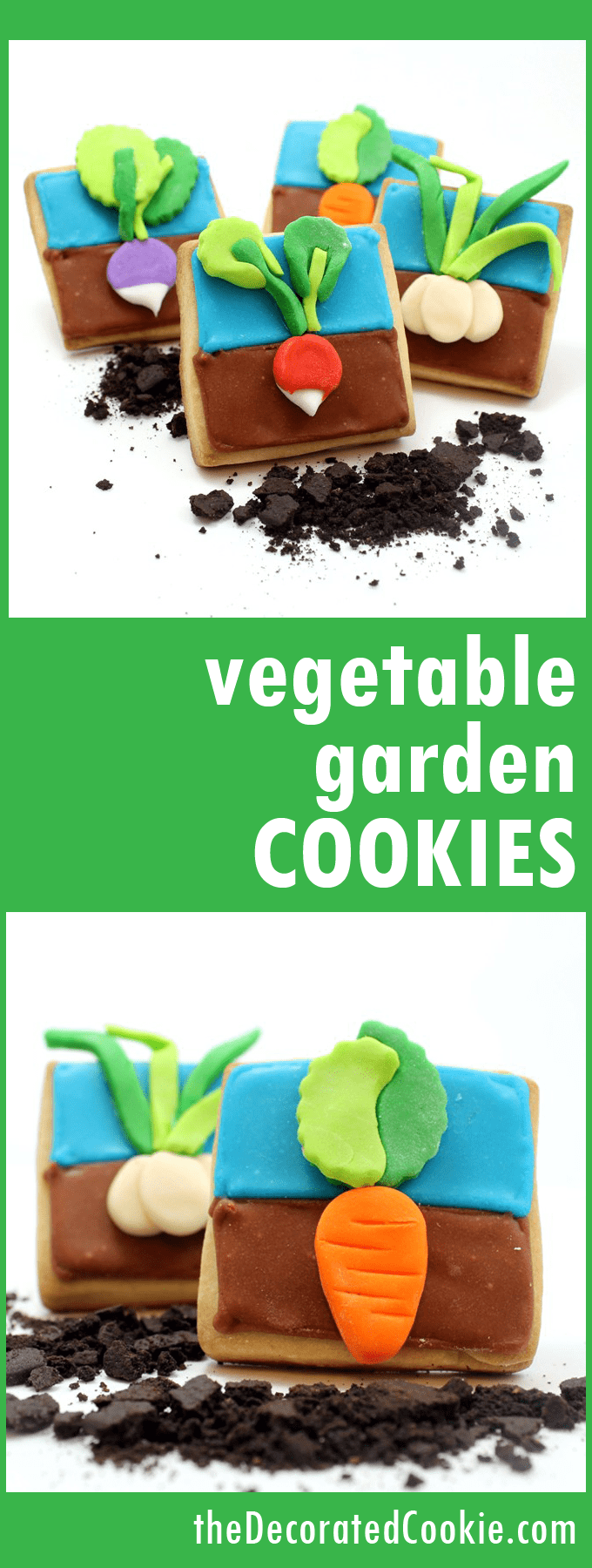 vegetable garden cookies -- spring cookies