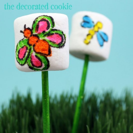 butterfly marshmallow pops