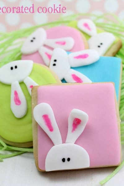 peeking bunny cookies for Easter