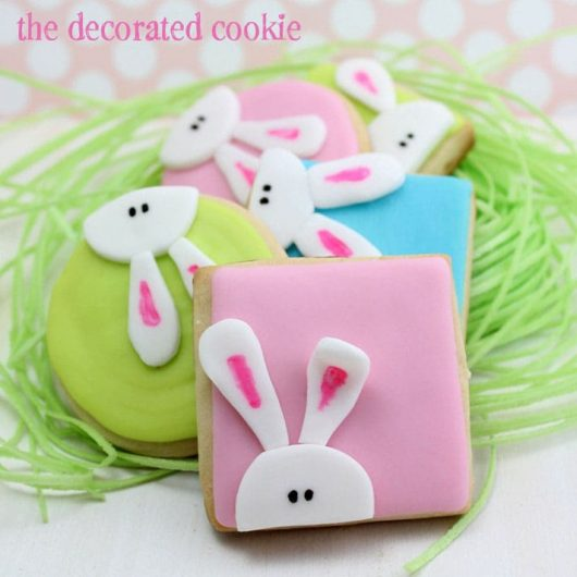 peeking bunny cookies for Easter