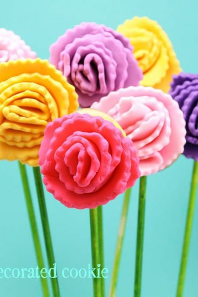carnation cookie pops