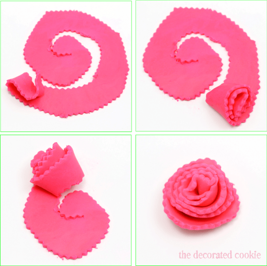 carnation flower cookies