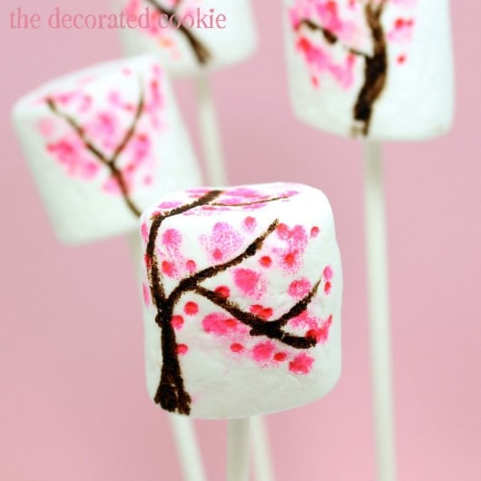 cherry blossom marshmallows