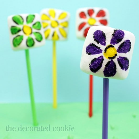 how to make flowers from marshmallows