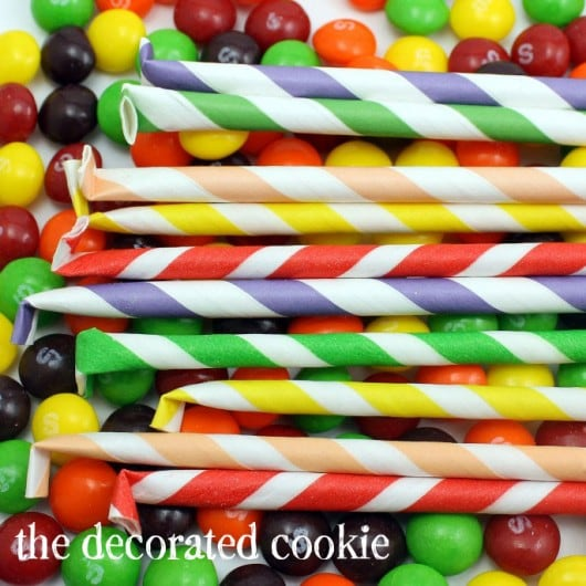 Skittles Straws Skittles pixie sticks DIY candy