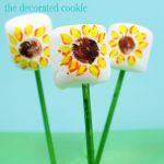 sunflower marshmallow pops