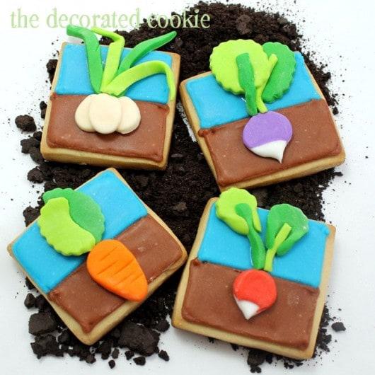 vegetable garden cookies