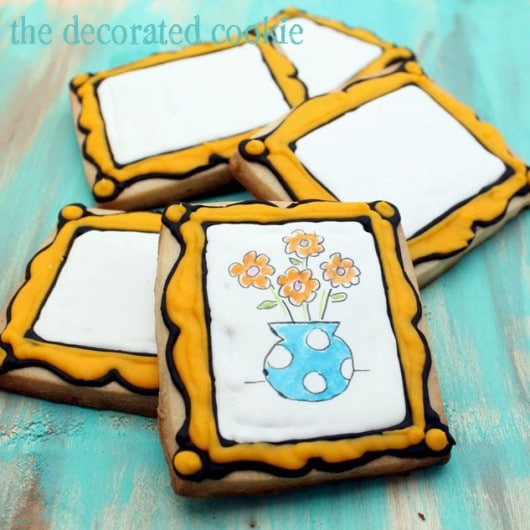 design-your-own canvas cookies for an art party