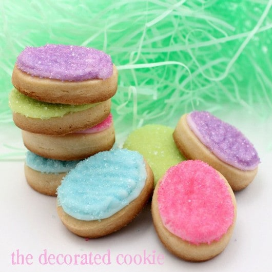 mini Easter egg cookies