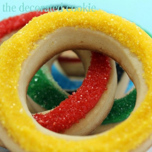 Olympics cookies for Bird's Party Magazine