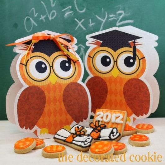 free printable graduation owl gift bags