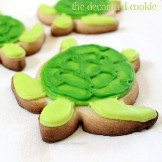 Brush Embroidery Turtle Cookies and a GIVEAWAY!! - The Decorated ...