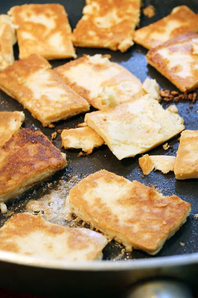 pie chips in skillet