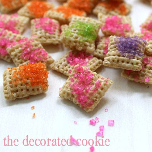 sparkly rainbow Chex cereal
