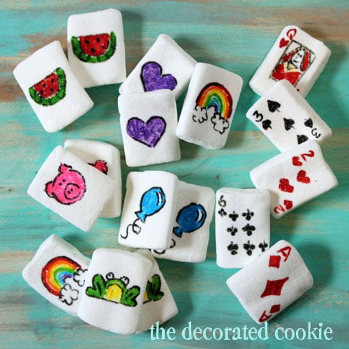 marshmallow playing cards and memory game
