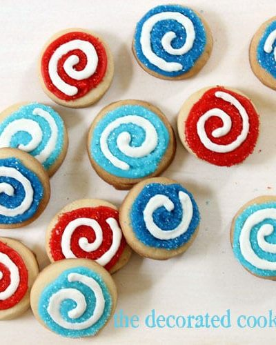 swirl cookies for the 4th of July