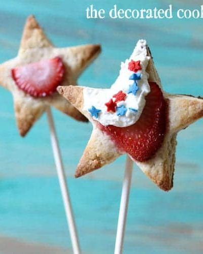 strawberry shortcake star pops for 4th of July