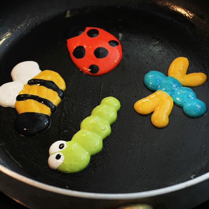 pancake art bugs